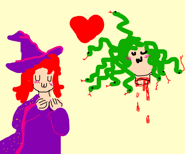 Medusa and redhead witch are lesbian GFs