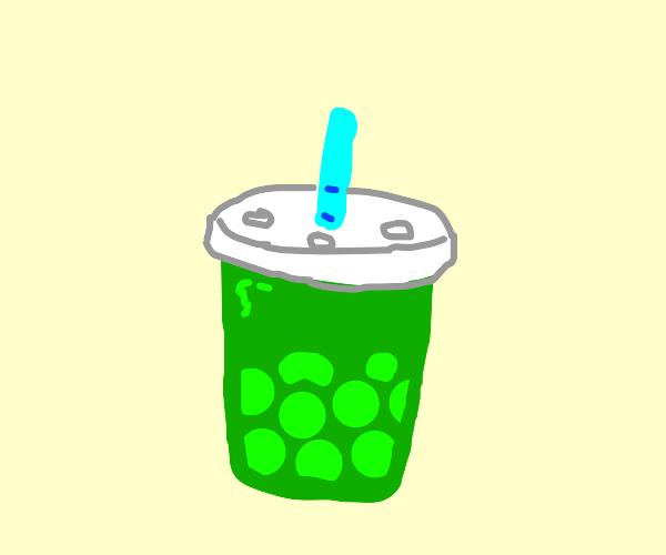 green bubble tea