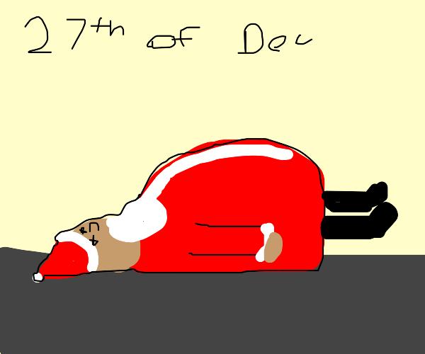 27th dec - bye bye santa