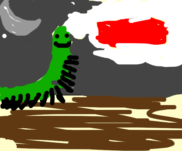 centipede at night dreaming about a brick