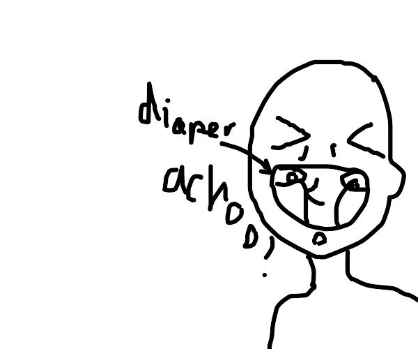 Sneeze in a diaper