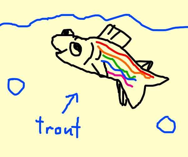 Goofy Rainbow Trout
