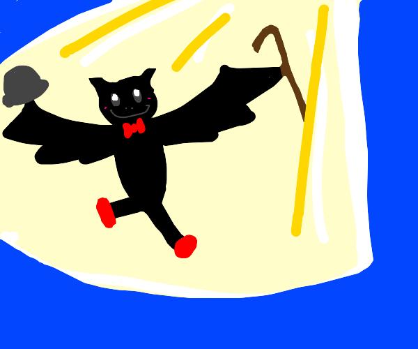 Cute dancing bat creature