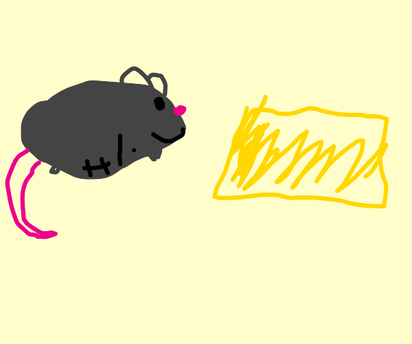 Mouse in famine finds Happiness in cheese