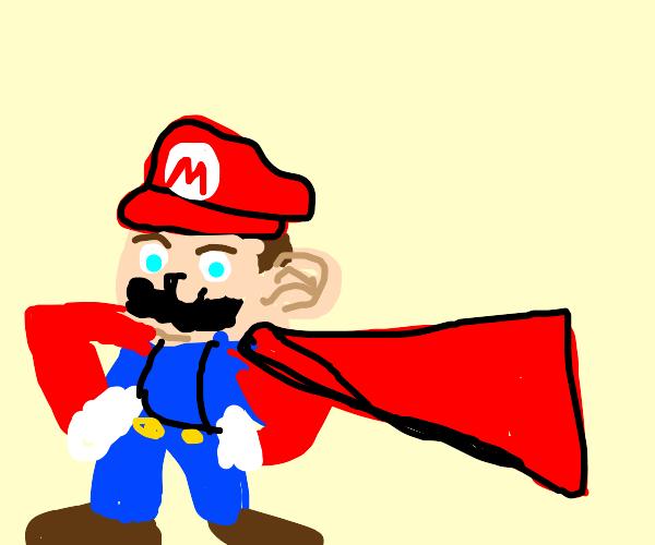 Mario with a cape