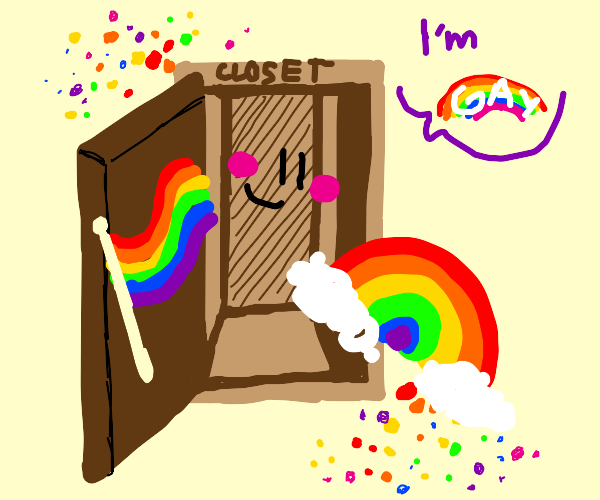 A closet comes out as gay