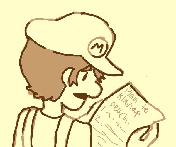 Mario discovers secret plot against Peach