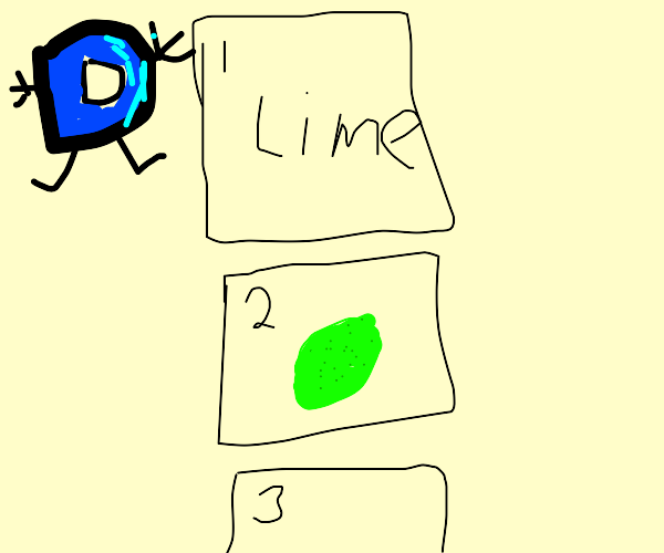 Lime in a Drawception panel