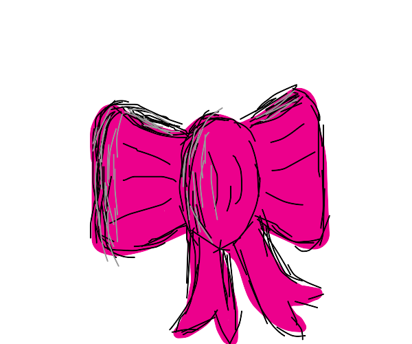 a pink bow