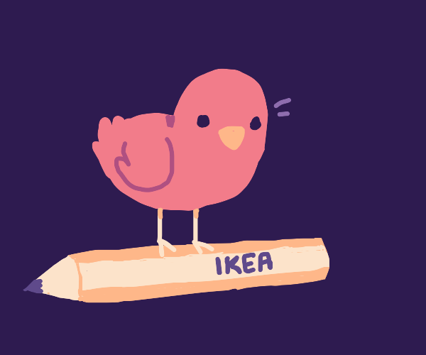 bird on an ikea pencil