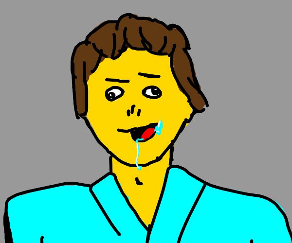 drooling yellow man
