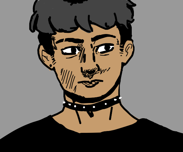Handsome man with a choker