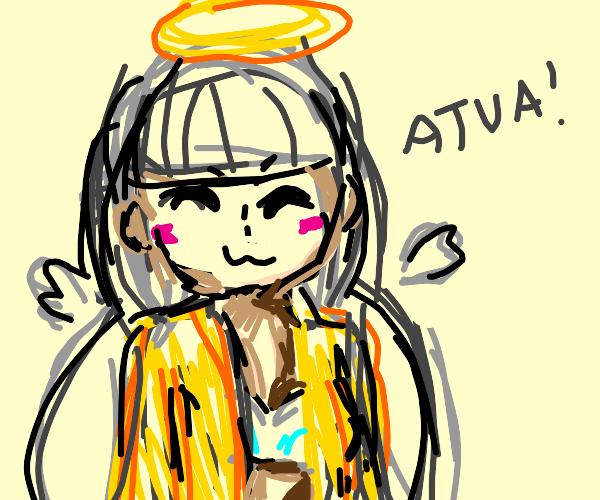 Angel saying Atua