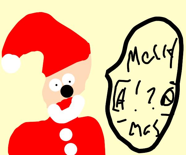 Santa tells us Merry [b word]mas