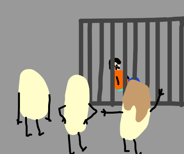 Guy is kept imprisoned by a rice cult