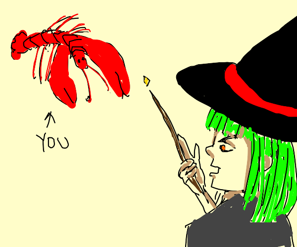 Witch turned you into a lobster