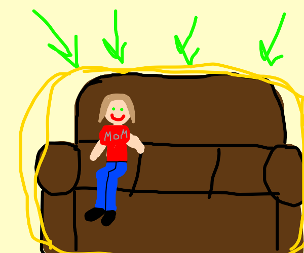 This is mom's couch