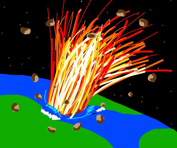 Meteor hits Earth