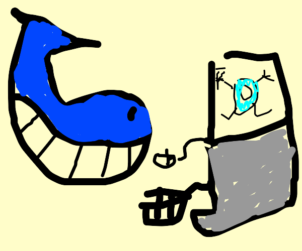 Whale loves drawception D
