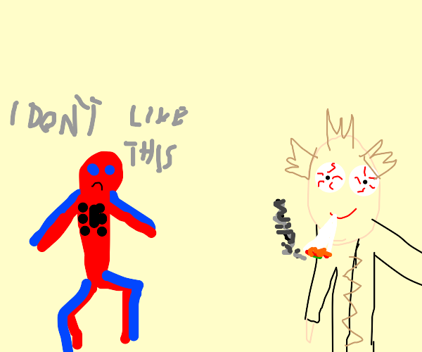 Spider-Man dislikes smoking