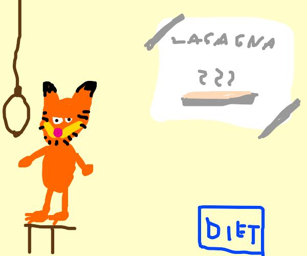 Garfield on diet