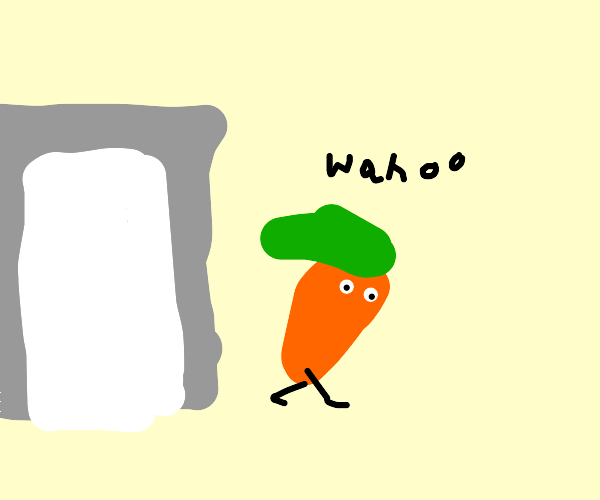 "Carrot says ""Wahoo"" after escaping the market"