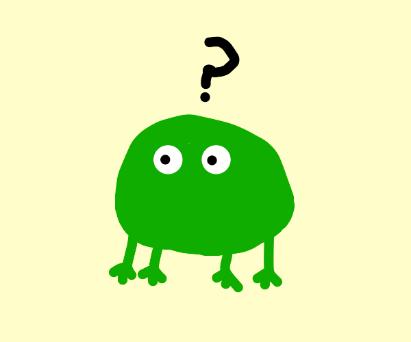 The frog is confuse