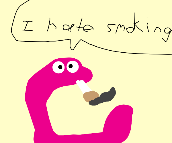 worm lies about smoking habits