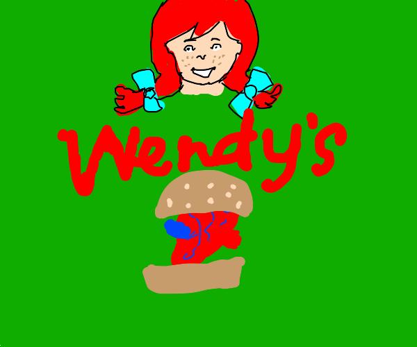 Wendy's serving a heart aandwich