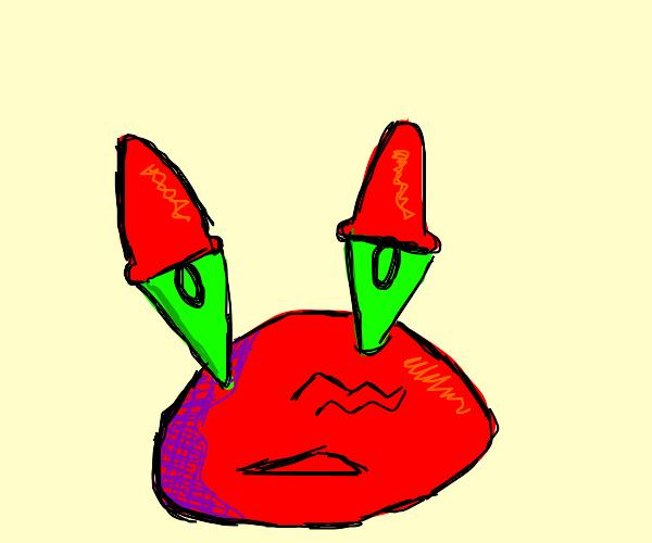 mr krabs is sad :(