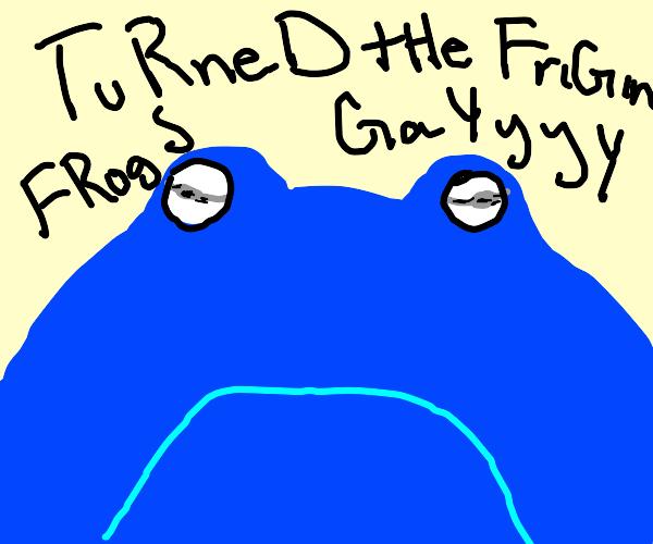 Chonk blue frog