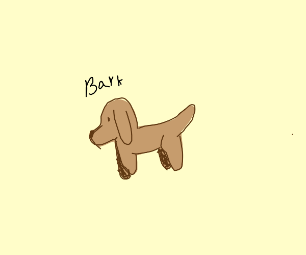 over simplified dog