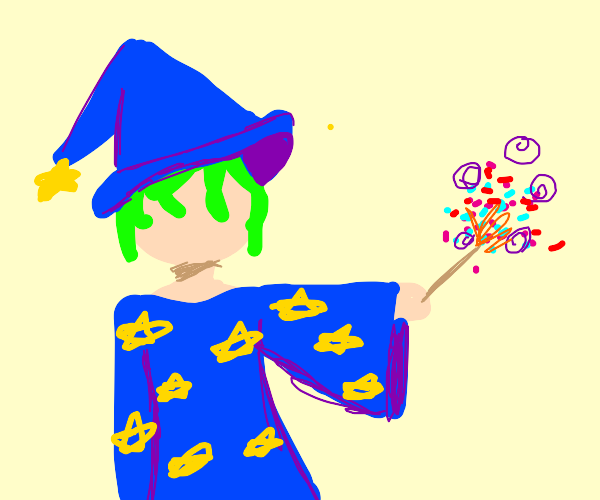 A Wizard Casts a Spell