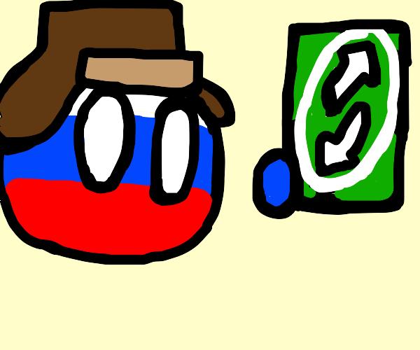 russia ball has an uno reverse
