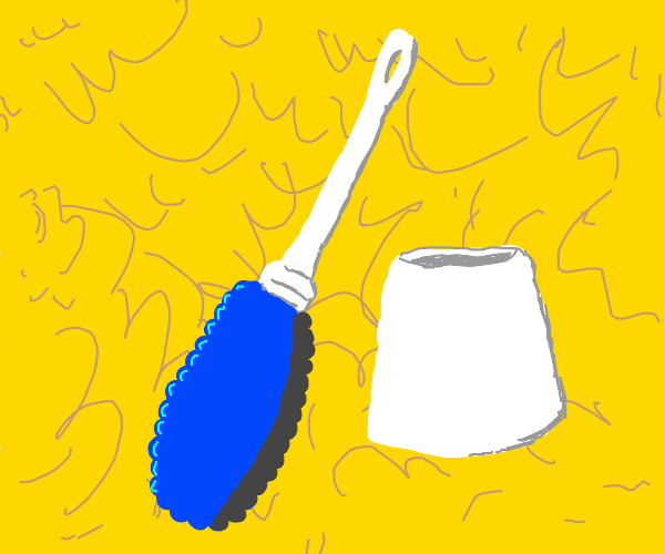 marge simpson's hair is a toilet brush