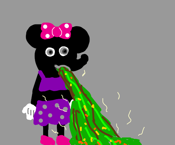 Minnie Mouse Puking