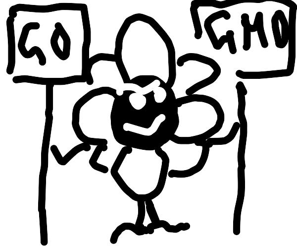 Undertale flower supports GMO propaganda