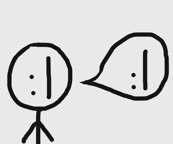 """:I saying """" :I """""""