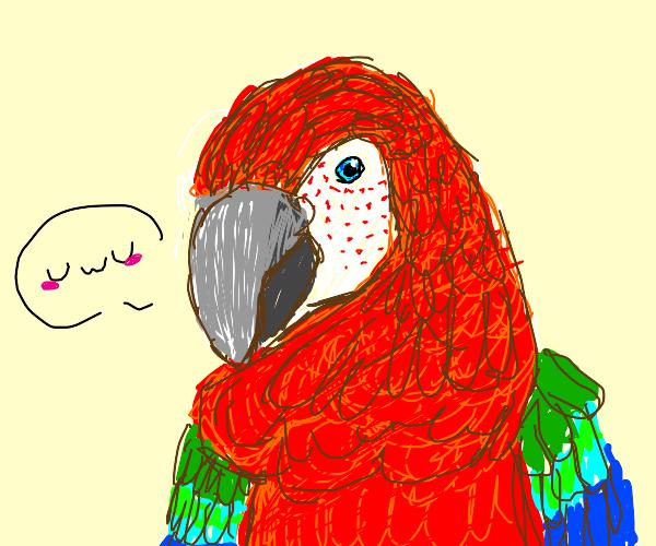 A surprisingly realistic parrot