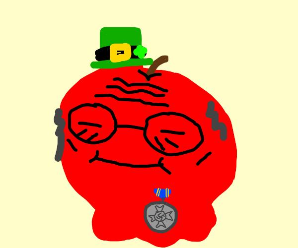 irish apple shows off his medallion