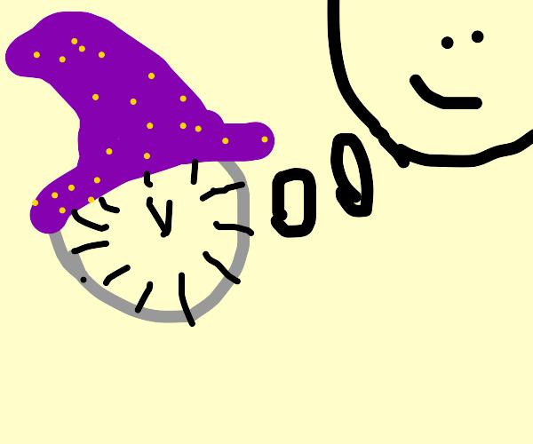sentient wizard clock