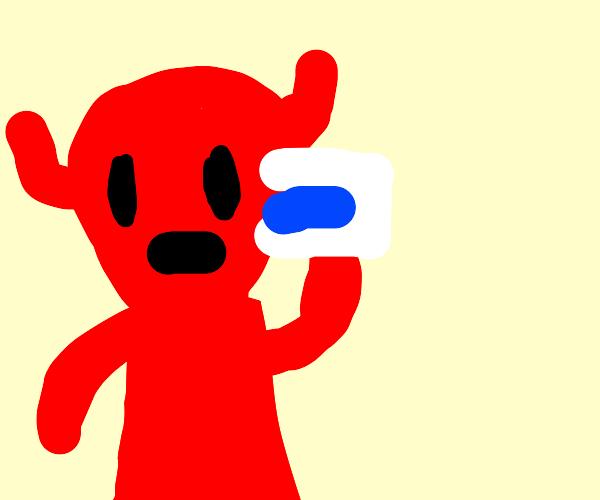 demon drinking water