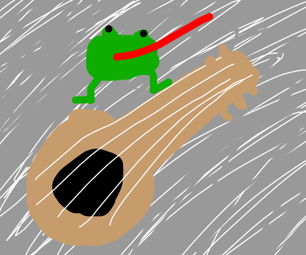 Frog and guitar?
