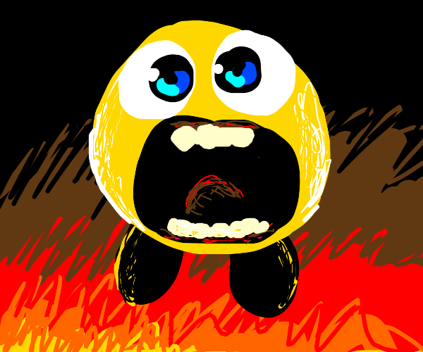 Yelmy: a terrifying Kirby/Yellmo mashup.