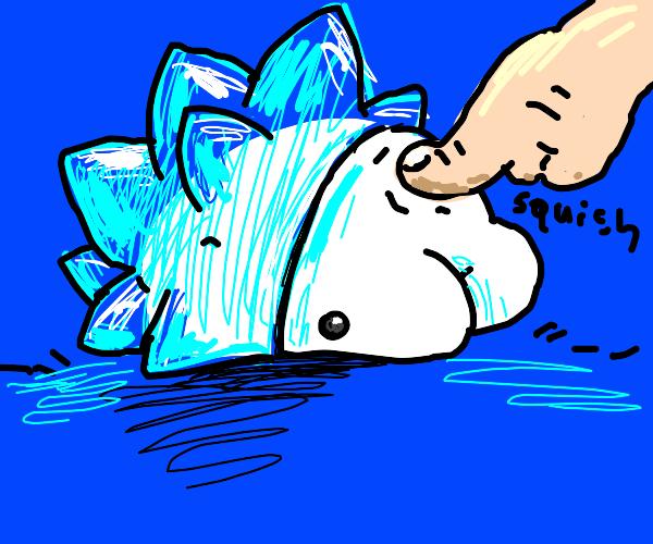Snom being poked very squishy!