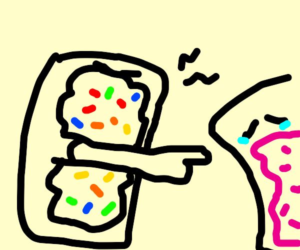 two poptarts, one is making fun of the other