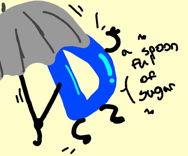 Drawception logo is Mary Poppins