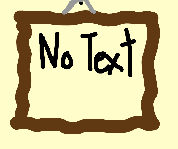 A picture with no text