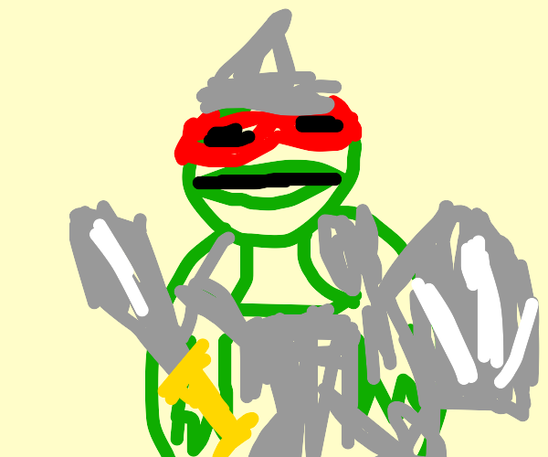 raphael (TMNT) with sword shield and armor