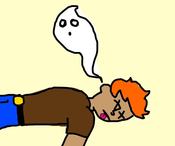 Ghost leaves dead ginger's body